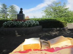開成山公園でクリームボックス