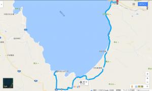 青松浜湖水浴場から上戸駅までの経路