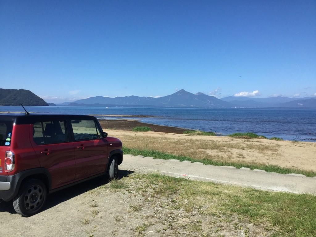 HUSTLERと猪苗代湖と磐梯山