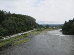 橋の上から見る乙字ヶ滝