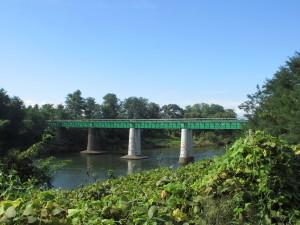阿武隈川を渡る水郡線の橋梁