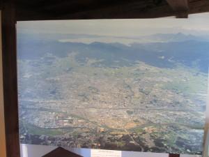 展示の中の一つ。猪苗代湖と郡山市街地