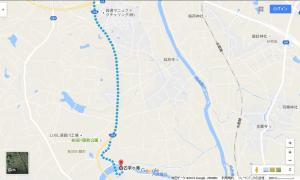 まざっせプラザから乙字ヶ滝への経路(乙字ヶ滝付近)